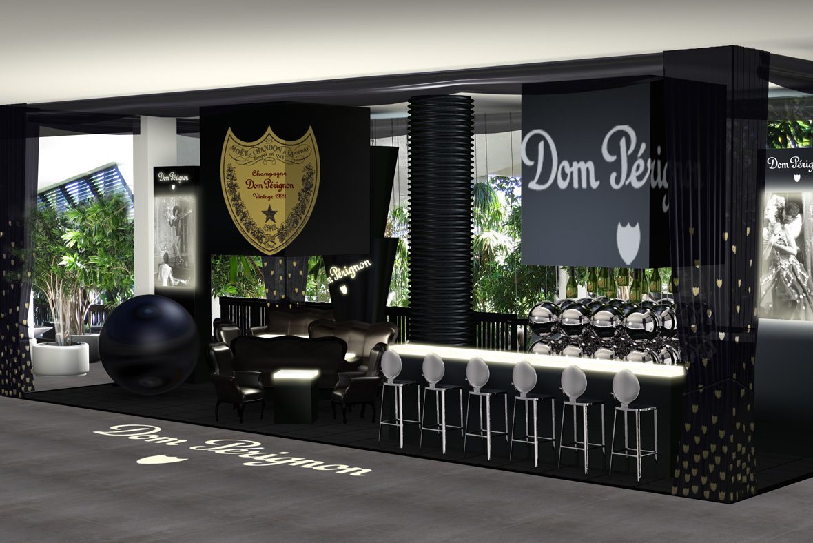bienenstein concepts projects display domperignon balharbour