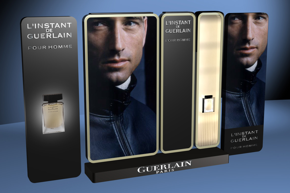 bienenstein concepts projects display guerlain l instant 1
