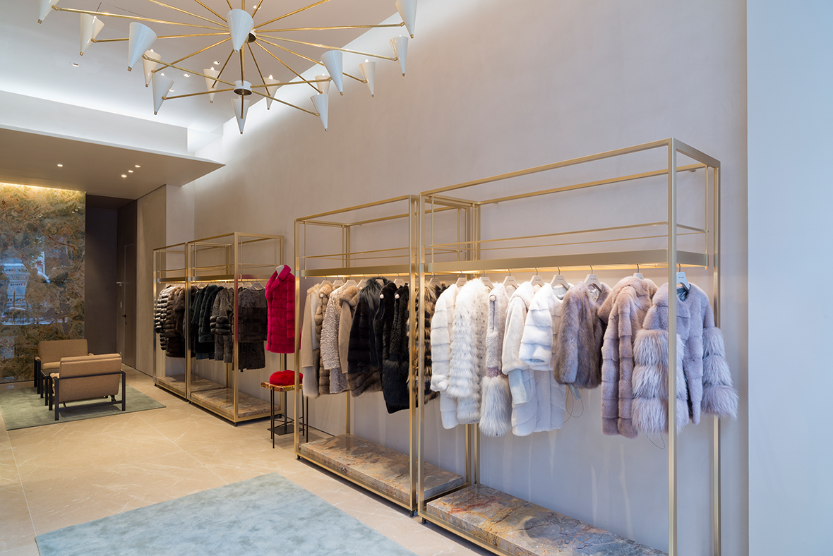 bienenstein concepts projects retail yvessalomon store madisonavenue nyc interior
